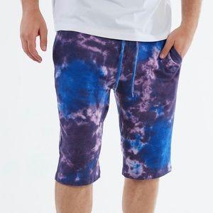 True Religion Tie Dye Sweat Short
